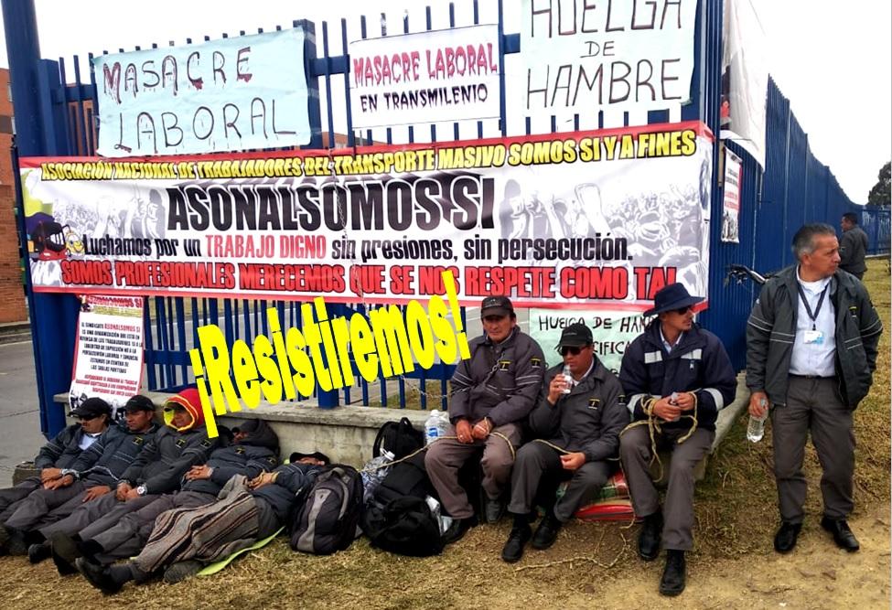 Huelga indefinida de hambre en TM Bogotá; o Calidad de vida laboral