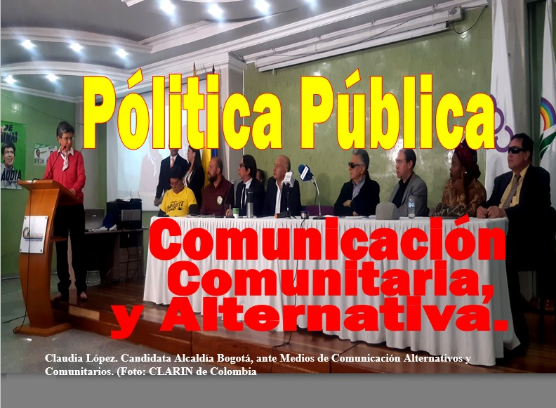 Firmado Pacto de Política Pública de Comunicación Comunitaria y Alternativa, con Claudia López en Bogotá