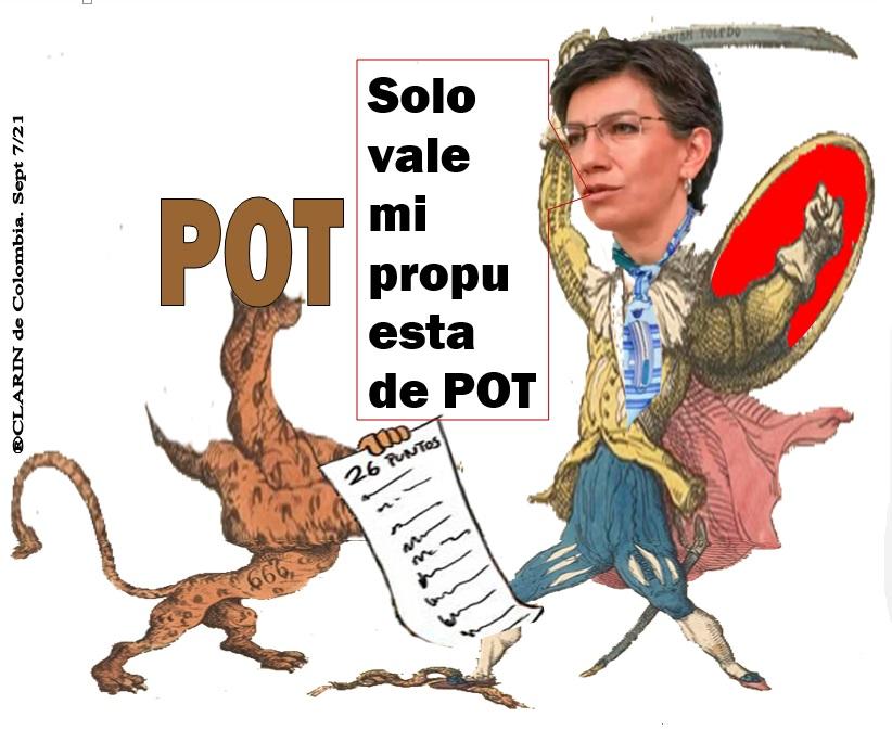 Mancillados debate al POT y bancada de oposición, en Bogotá (PLANTON SEPT.10)