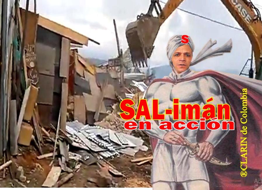 """Soacha. CAE LA ÚLTIMA HOJA!, los """"Castillos"""" derrumbados en san Nicolás. Comuna 1"""