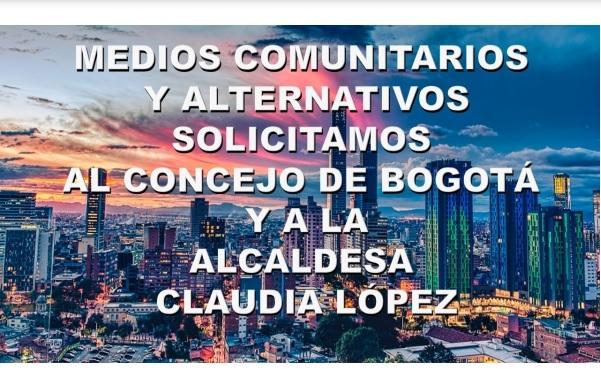 Petición al Concejo de Bogotá y a la Administración, por los Medios Comunitarios y Alternativos