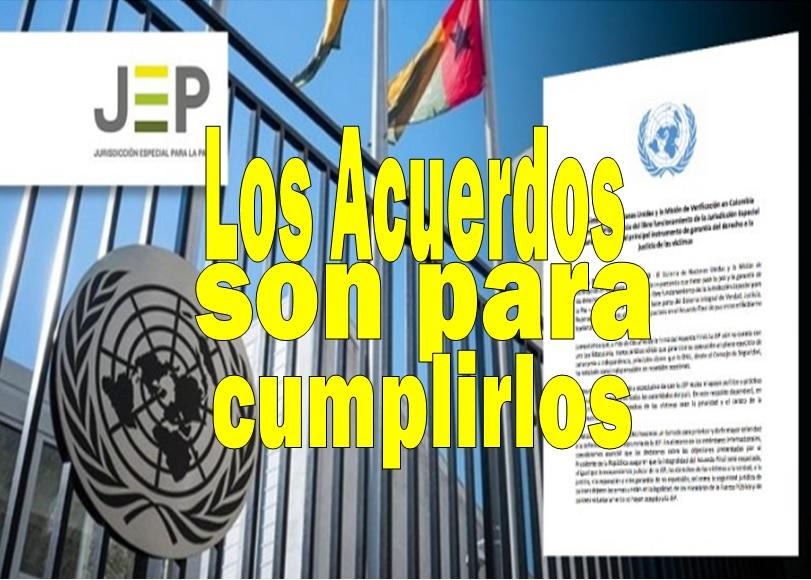 ONU respalda a la JEP y pide respeto por lo acordado en La Habana